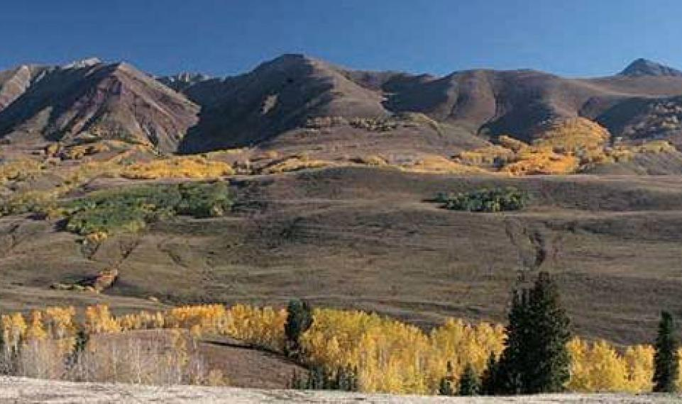 Fall Prospect view of Elk Mtns