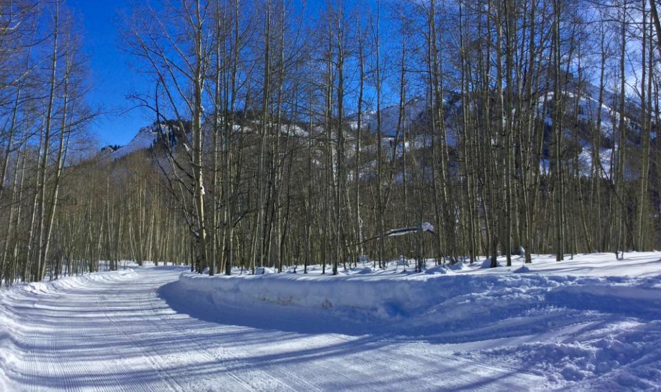 Winter service road toward mt cb 0