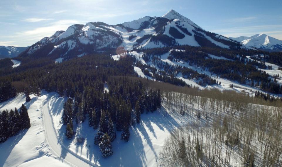 winter aerial toward Mt. CB 1