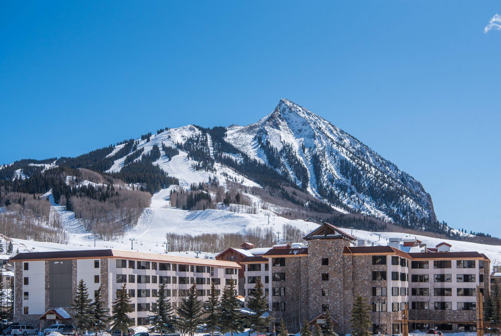 Grand Lodge Winter Exterior Peak